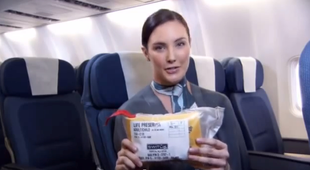 Air New Zealand's Bare Essentials safety video.  I'm not above admitting that the video does make you take note of the strategically placed objects.