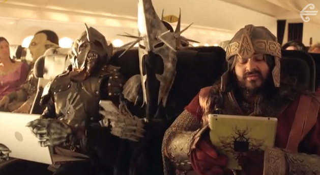 Air New Zealand's Hobbit-inspired safety video.  Even available even on those flights not going to Middle Earth.