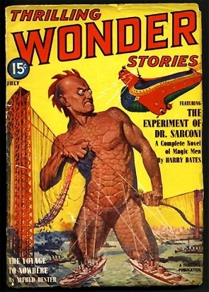 "Use blogging and social media to tell your ""Thrilling Wonder Stories"" to your customers and your prospects. Magazine image courtesy of  The Golden Age"