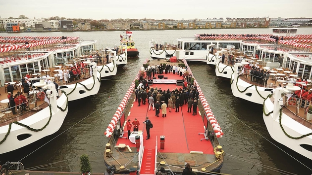 Viking River Cruises christened 18 vessels last month, all bound for Europe's rivers and waterways. Photo: Viking River Cruises.
