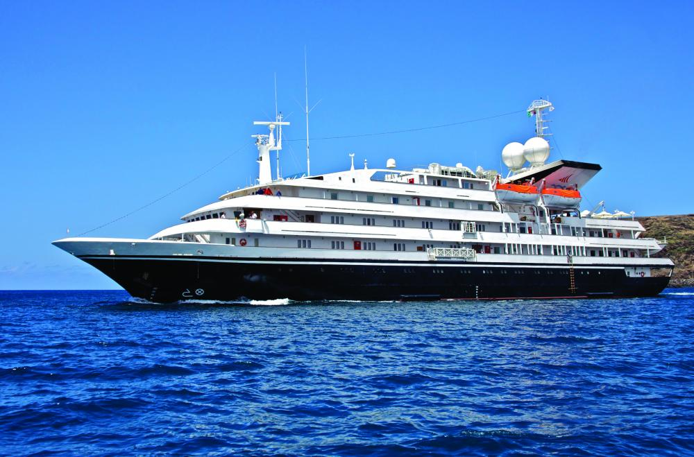 The  Corinthian  – aka  Renaissance IV, Clelia II  and  Orion II  – shouldn't be confused with the  Corinthian II  – aka  Renaissance VII, Renai I, Sun, Island Sun  and now  Sea Explorer .  Corinthian  was built at Cantiere Navale Ferrari-Signani in La Spezia and carries 100 guests while  Corinthian II  was built at Nuovi Cantieri Apunia in Carrara and carries 114. Got that?