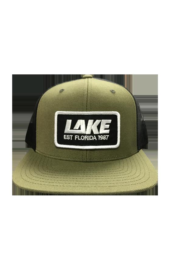 68dcd7fd LAKE Logo Snapback Trucker Hat - Green — Lake Skateboards. `
