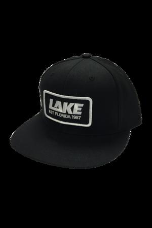 eb41e0af LAKE Logo Snapback Trucker Hat - Black