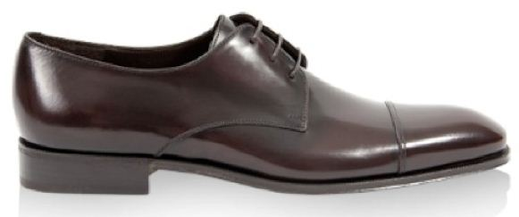 Classic Ferragamo cap toe shoes.