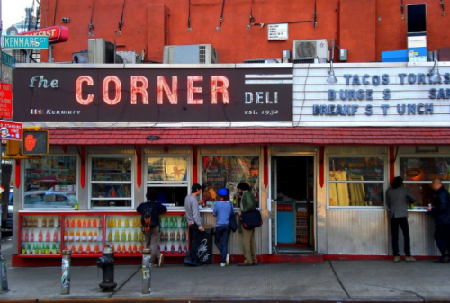 La Esquina from the outside - taco stand area.
