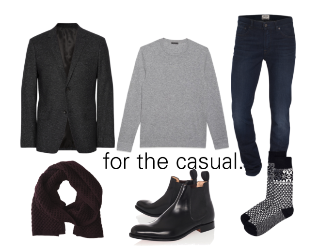 Ensemble style Calgary personal shopper dark denim and black boots