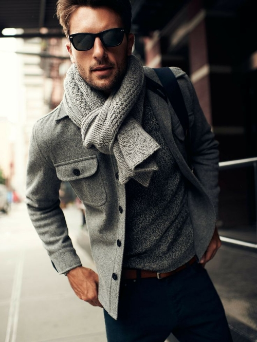 Ensemble style men's fashion