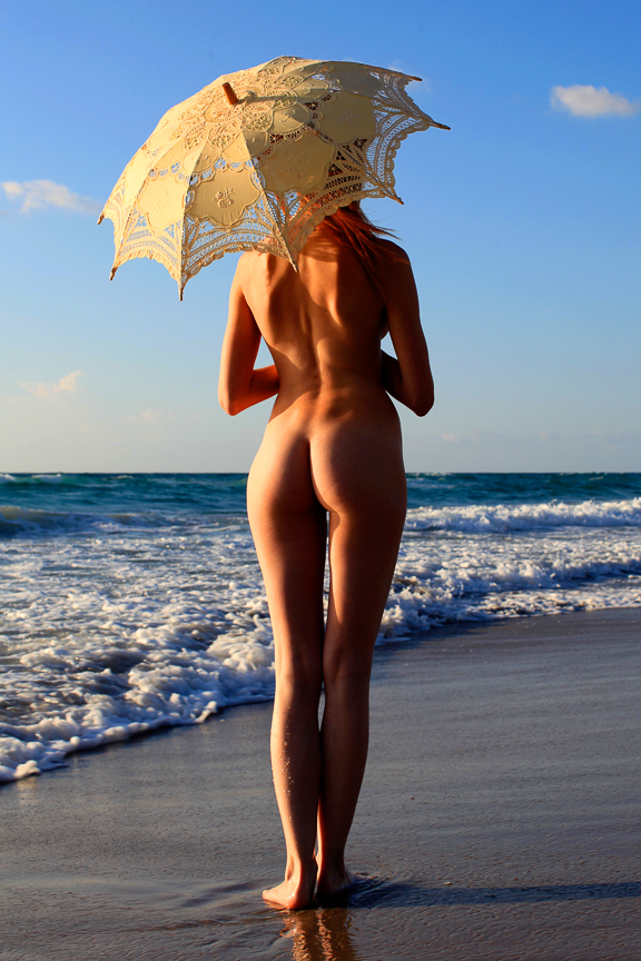 Ed-Johnston-Simple-Nude-Girl-With-Umbrella-At-Beach-1414w.jpg