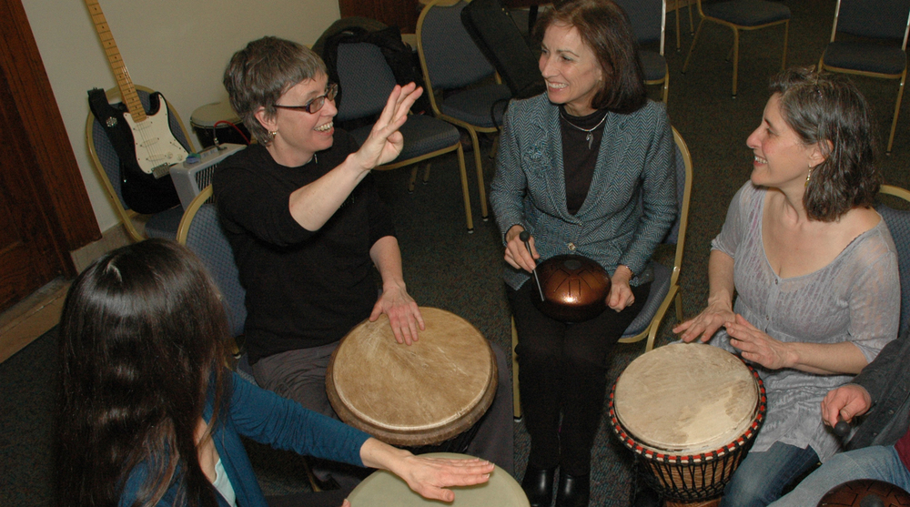 Self-Expression with drumming - a powerful and fun way to let our soul sing!  Photo © Damini Celebre