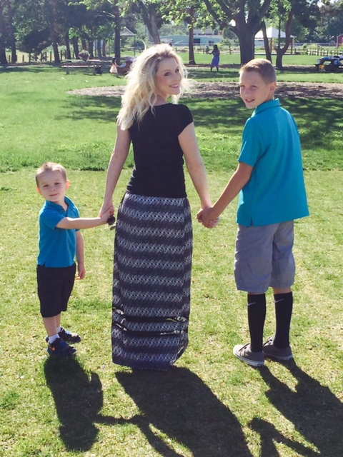 Amanda with her two sons, Kaden (right) & Kael (left).