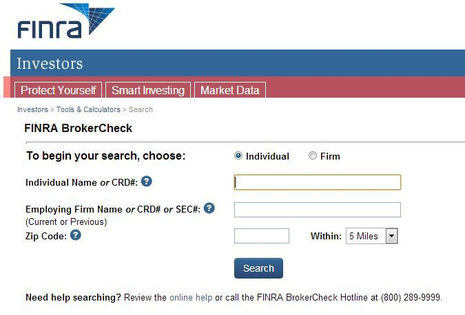 What if you can't find your broker on the FINRA BrokerCheck?