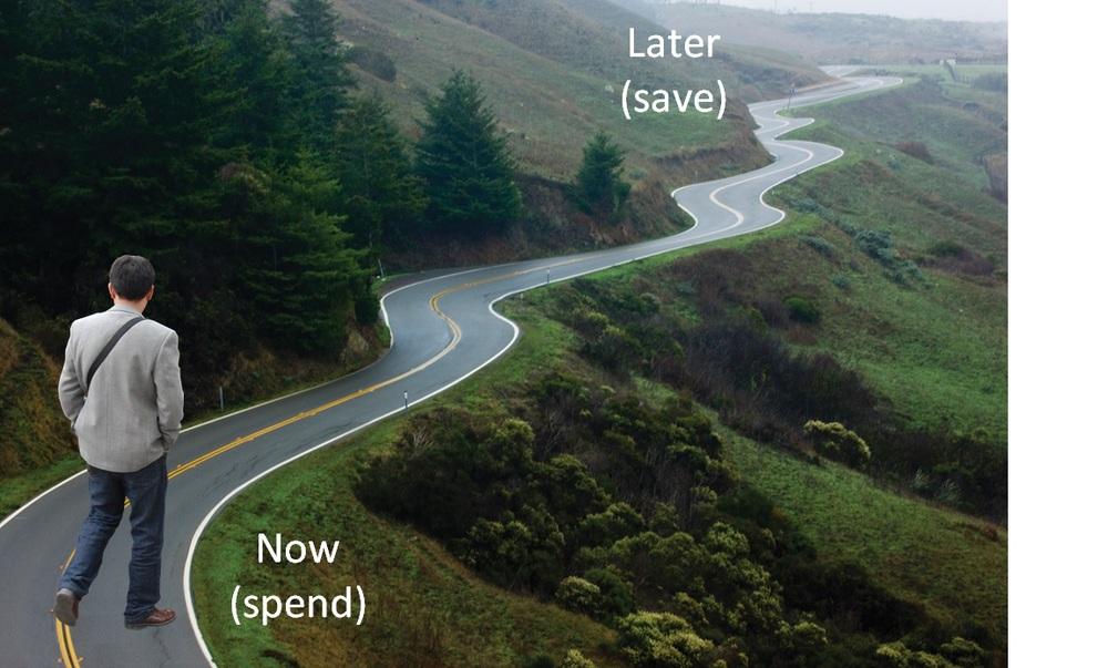 Spend versus Save Guy on Road.jpg