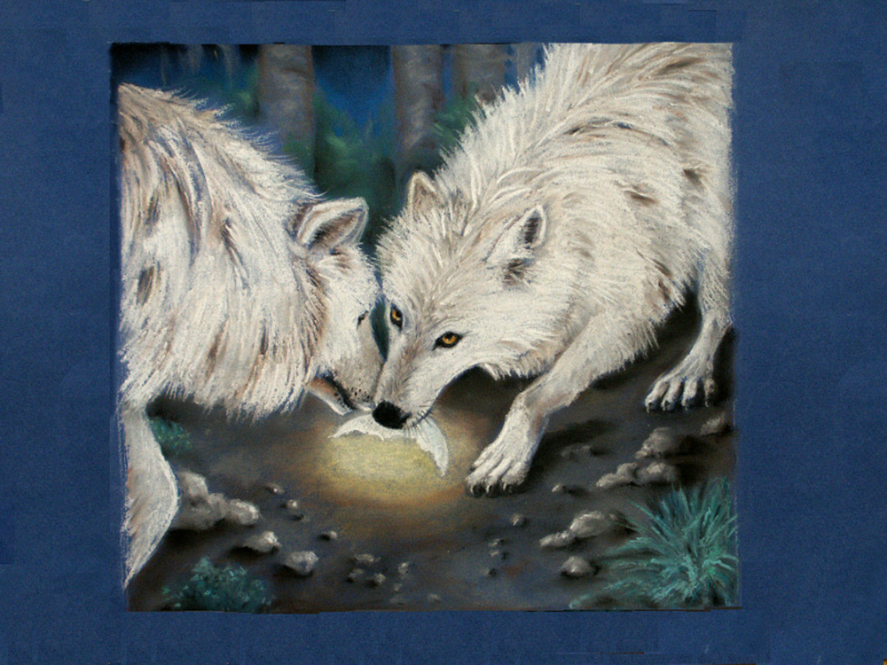 Wolves with a Piece of the Moon
