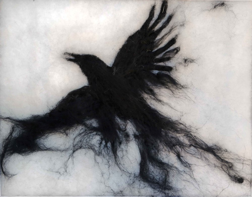 Ink Drawing Crow