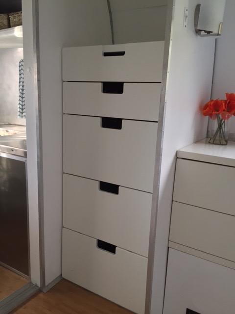 Dresser in rear bedroom area