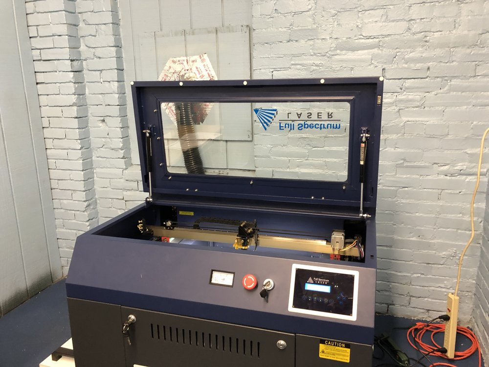 laser cutters - The laser cutters can engrave and cut a variety of materials.