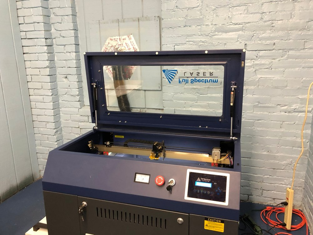 Laser Space - We have a 45watt laser cutter the can cut and engrave a variety of materials.