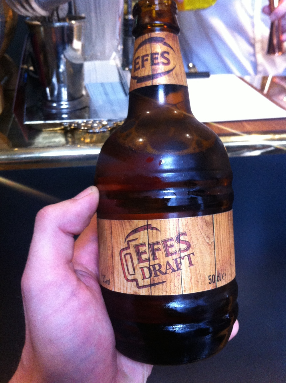 Efes Beer is a Turkish Staple and always on offer at Ted's Grooming Room