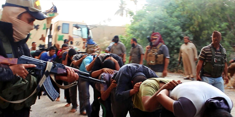 Images that caused outrage across the world as ISIS lead Iraqi soldiers to execution.