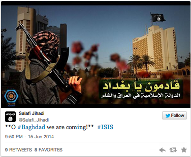 Advancing ISIS have their eyes set on Baghdad.