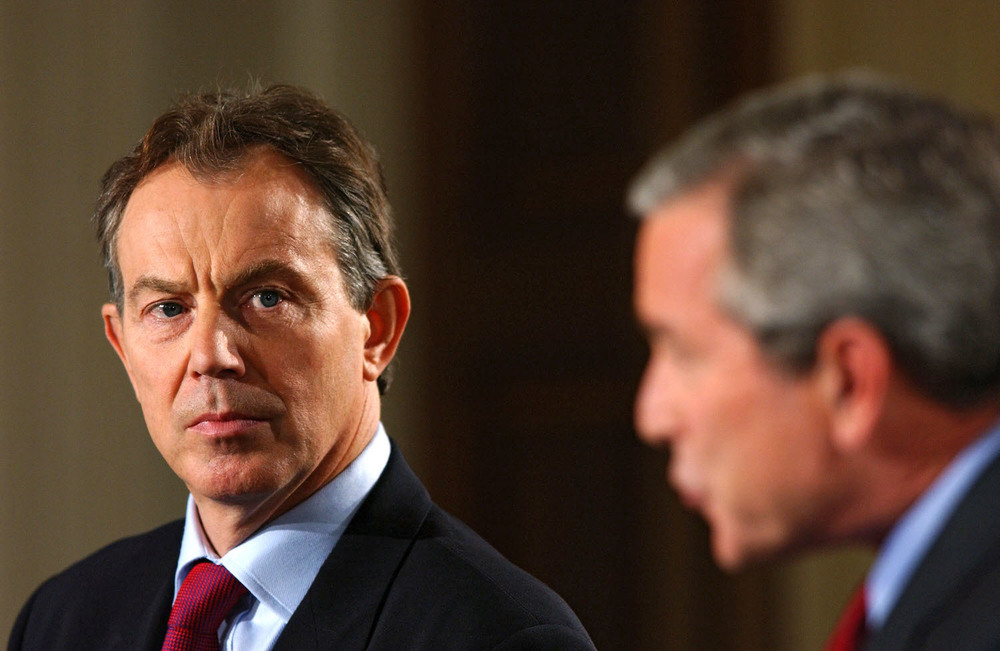 Blair and Bush have both received criticism for the controversial lead up the 2003 Iraq invasion.