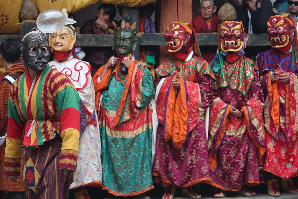 Jakar tsechu, Guru Tshengye, eight manifestations of Guru Rinpoche