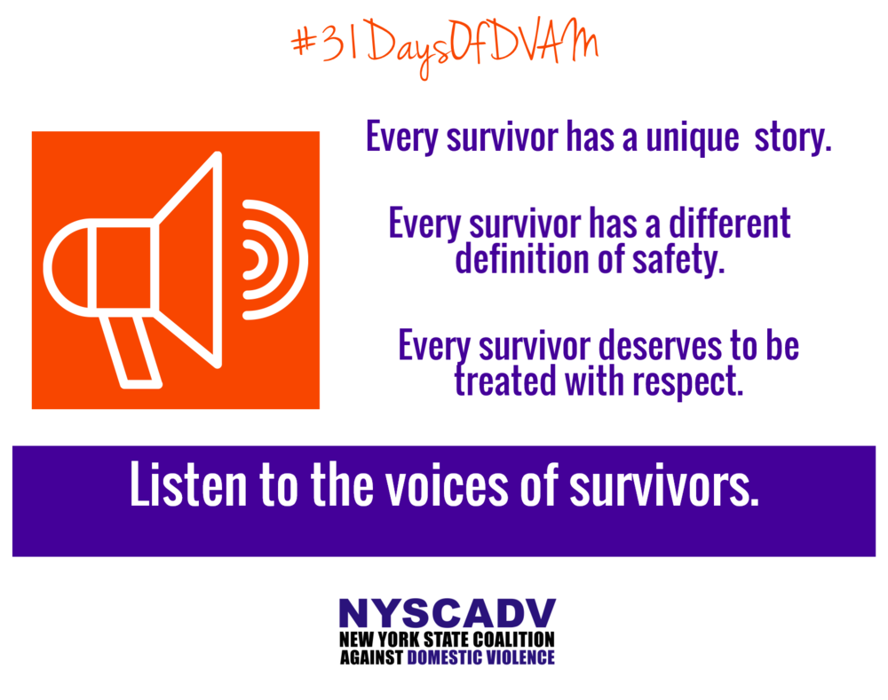 Listen to the voices of survivors.