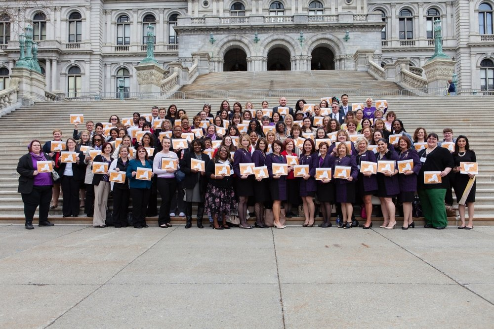Mary Kay & NYSCADV staff & Member programs celebrate Legislative Advocacy Day 2016.