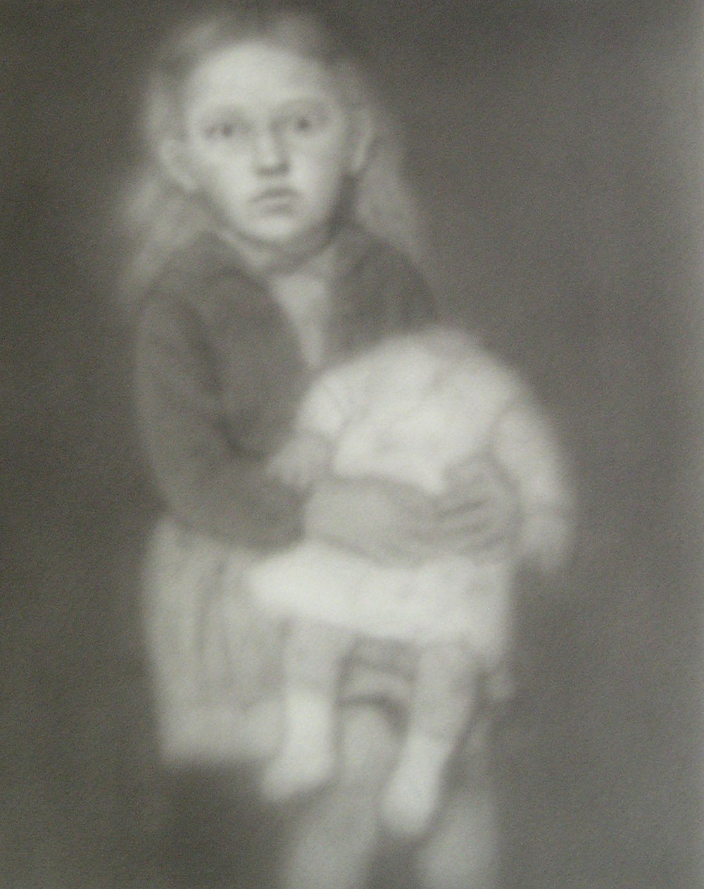 Little Girl Holding Headless Doll