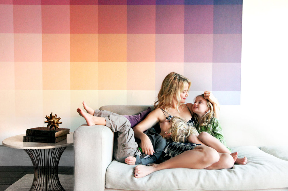 Designer Christiane Lemieux and her children.