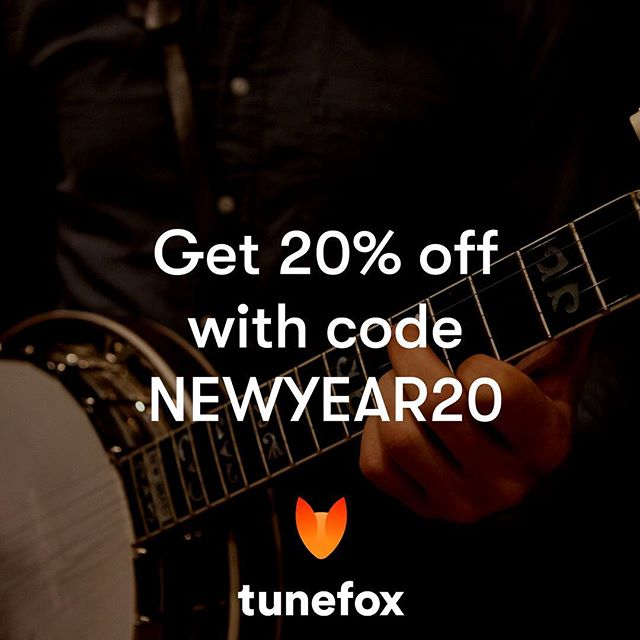 Today is the last day to get 20% off Tunefox! Enter the promo code NEWYEAR20 on our website to activate the discount. Link in bio. #banjo #mandolin #guitar #banjolessons #guitarlessons #mandolinlessons