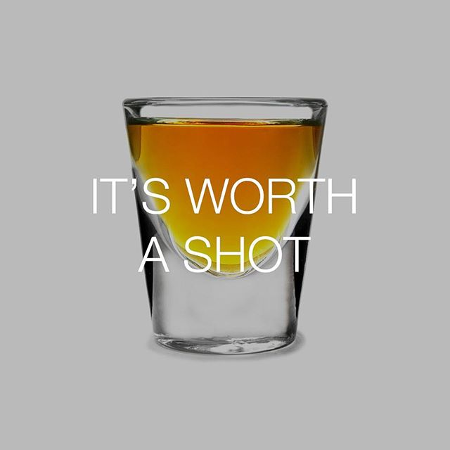 Or the way things are going, maybe two or three... #talkingfood #friendlyfoods #shot #worthashot #spirits #shotglass #bestofover #bestoftheday