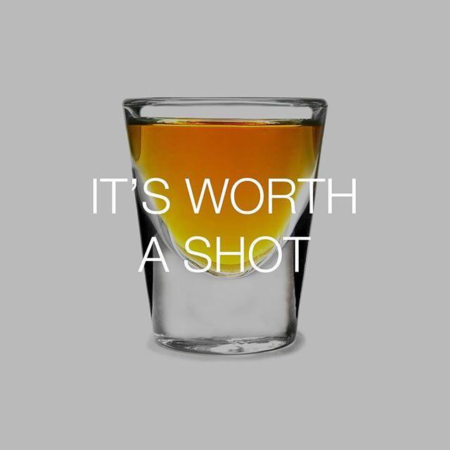 Or the way things are going, maybe two or three... #talkingfood #friendlyfoods #shot #worthashot #spirits #shotglass #bestofover #bestoftheday