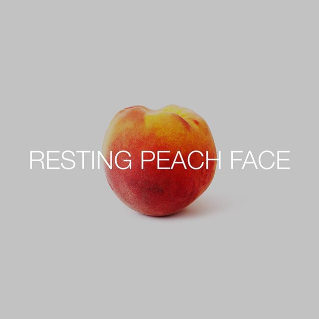 "Pretty sure my grave stone will read ""Smile, Laura."" #restingbitchface #peach #fruit #smile #talkingfood #friendlyfoods #bestoftheday #bestofover"