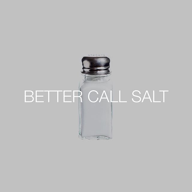 The next AMC series about a salt shaker that's really filled with drugs instead of salt? And Walter White is involved? I don't know guys, it's 105° here in The Midwest and I think it's starting to get to me. #bettercallsaul #salt #walterwhite #saulgoodman #talkingfood #friendlyfoods #bestofover #bestoftheday