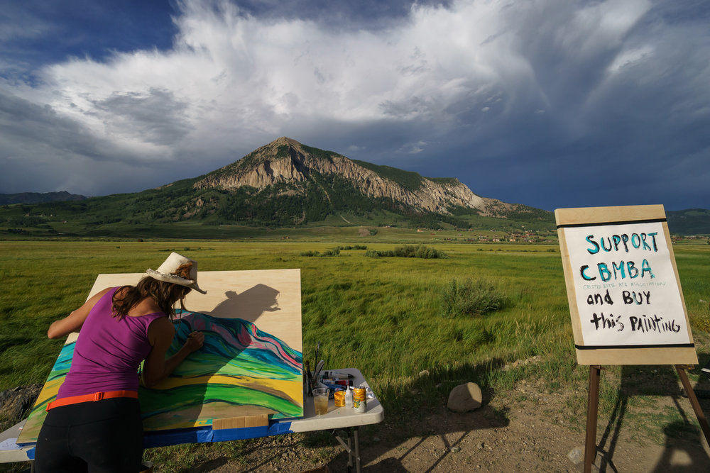 Live art at YETI Tribe Gathering with the Crested Butte Mountain Bike Association