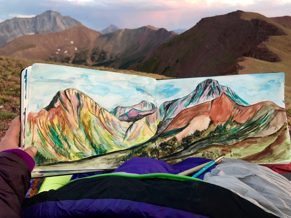 Hell Roaring painting from sleeping bag - 1.jpg