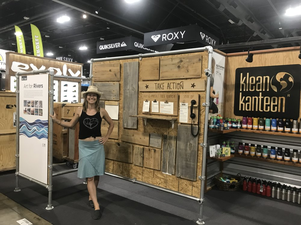 Live Art at Summer Outdoor Retailer 2018 with Klean Kanteen and American Whitewater