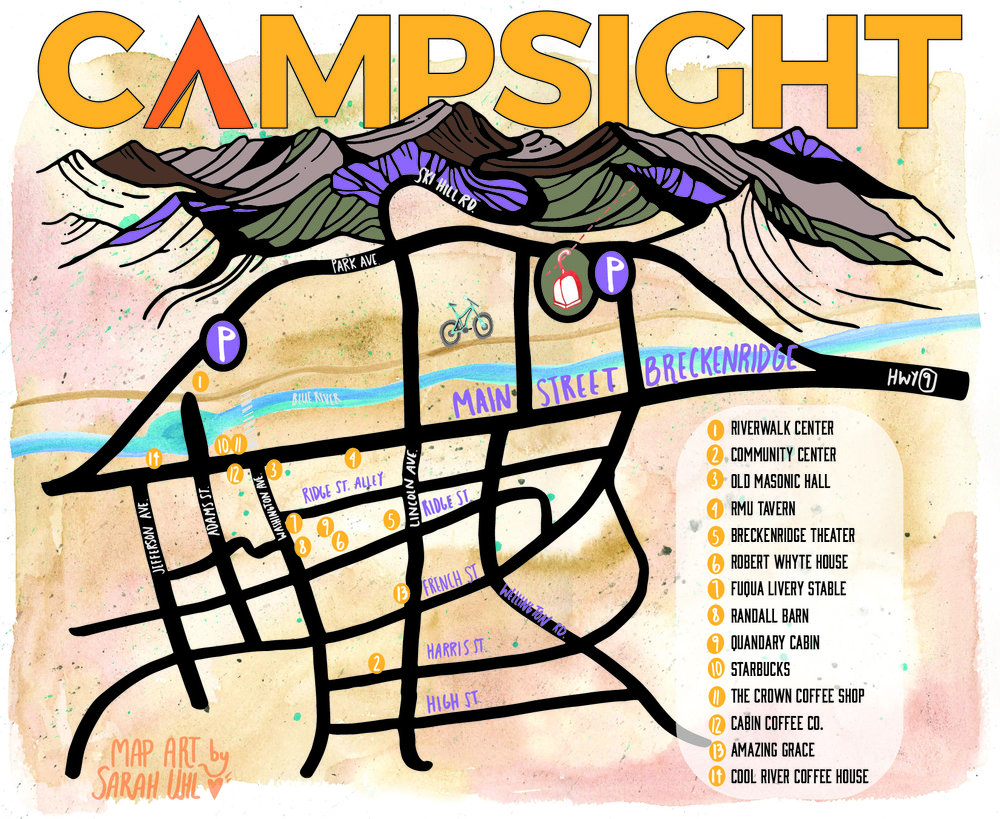 Event Venue map for CAMPSIGHT in Breckenridge, Colorado