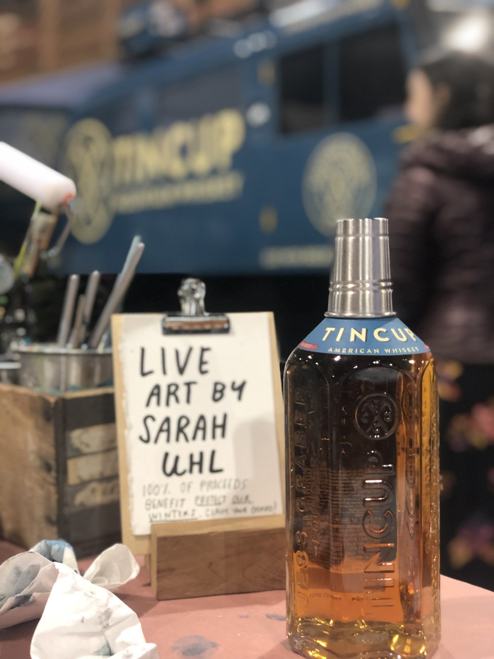 Tincup Mountain Whiskey hosted my live art activation in their booth space during the OR show
