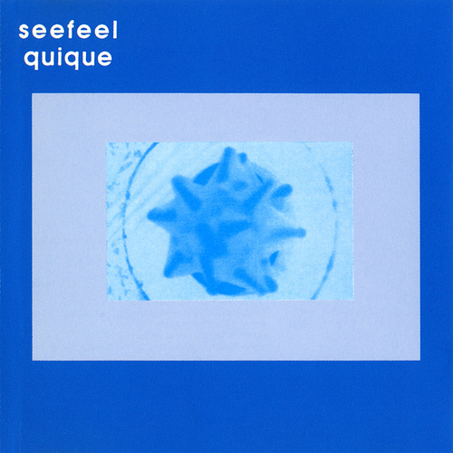 "Seefeel's early 90's masterpiece ""Quique"" pressed on blue marbled wax by Light In The Attic."