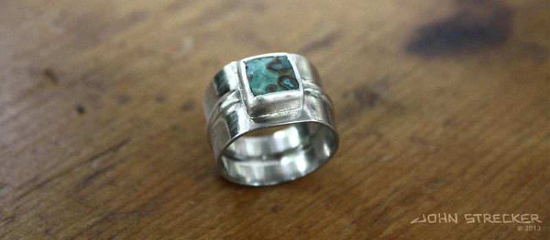 Silver Cabachon Ring