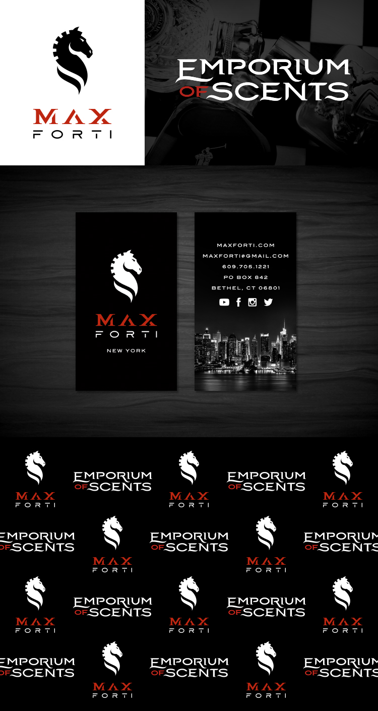 Max Forti | Emporium of Scents   Logos • Bizcards • Step and Repeat