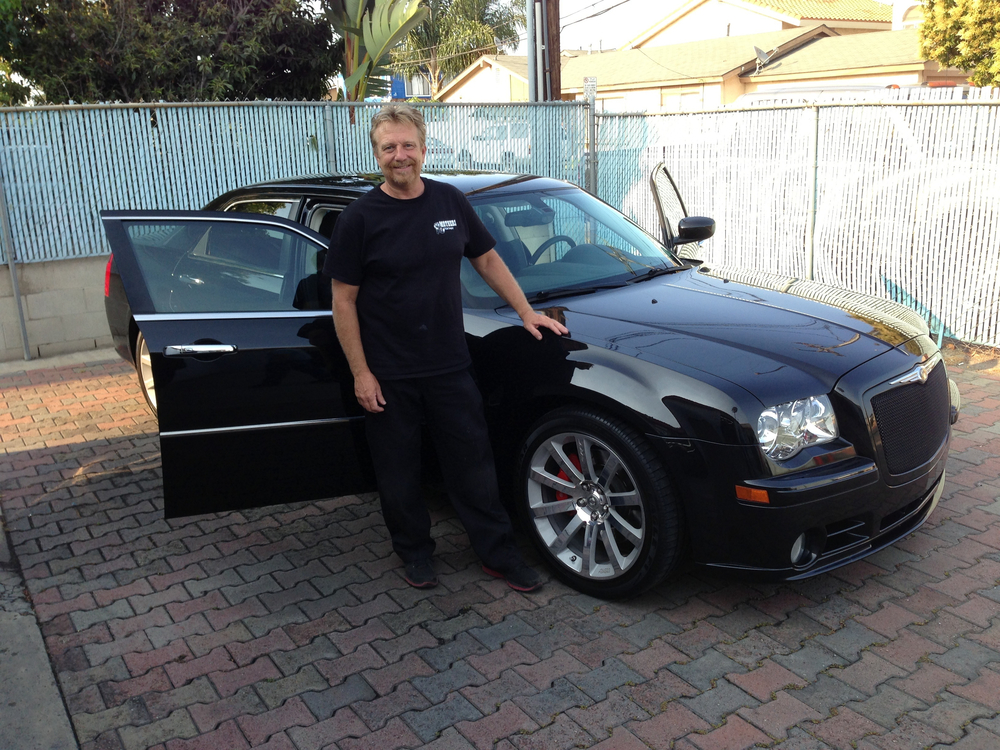 Jeff and a newly detailed 2010 Chrysler 300 SRT8