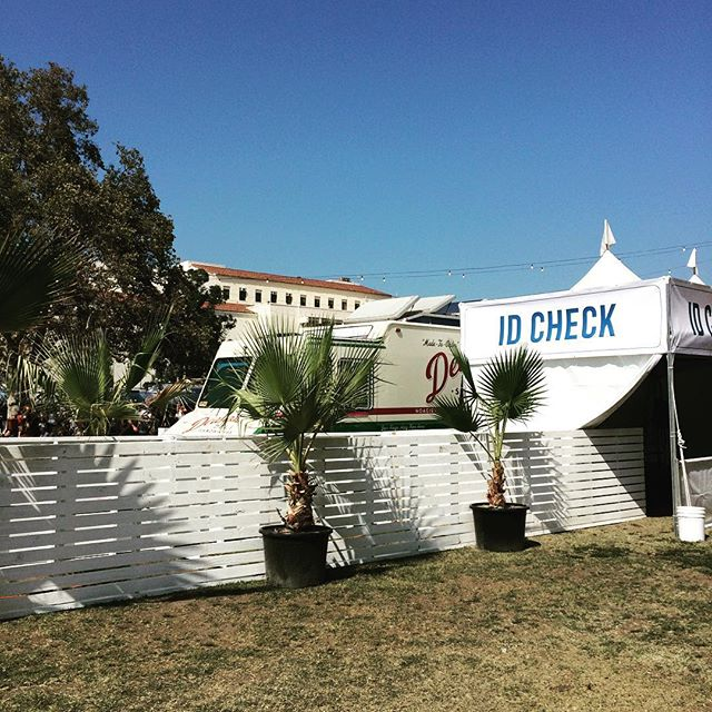 Posted up all day next to the Lawn Stage #deli #fyffest #hoagies