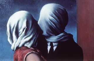 The Lovers by René Magritte (1928)