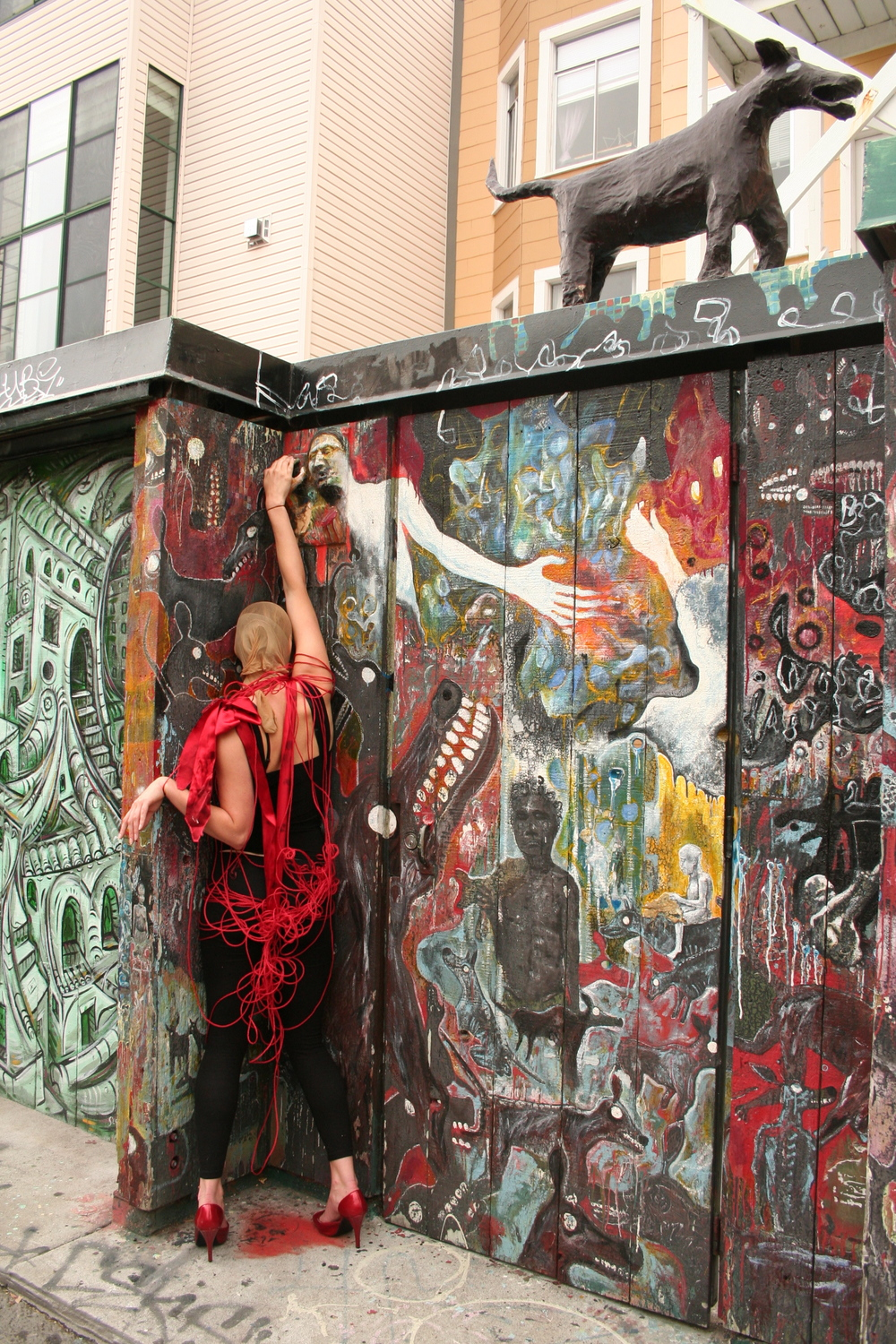 Allison Wyper in Clarion Alley, San Francisco. Photo by Jennifer Monge