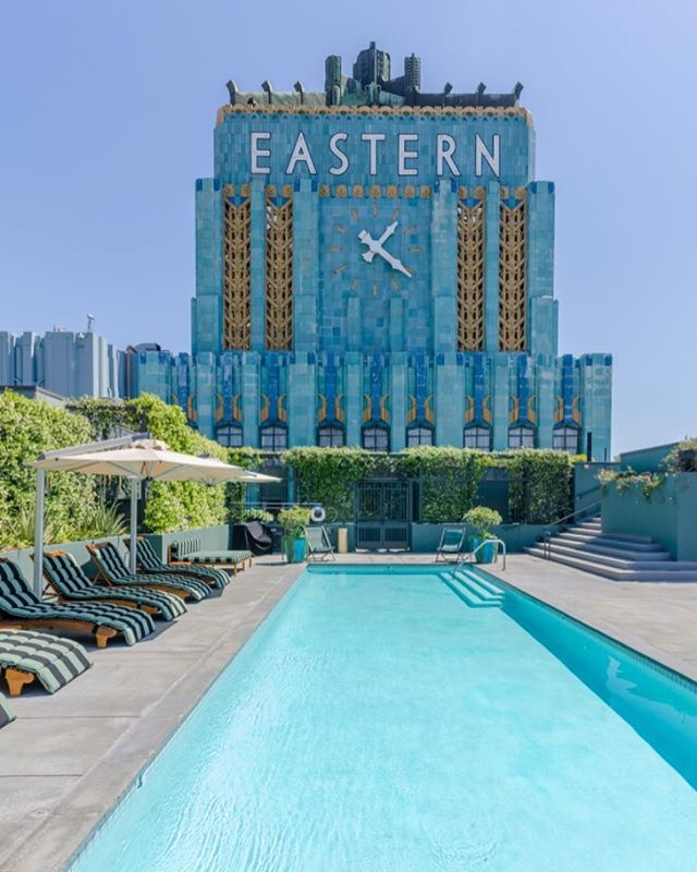 New Lease Listing | Iconic Eastern Columbia Building | 849 S Broadway #806 | 1,120 sq ft | $3,800/mo . . . Great opportunity to live in one of Downtown LA's most iconic buildings, the Eastern Columbia, in this light filled fully furnished loft. Upon entering the lobby, one is immediately transported into a cool mix of the building's historic 1930 Art Deco roots and noteworthy designer Kelly Wearstler's whimsical modern furnishings. The loft itself features high beamed ceilings, new beautiful light oak wood flooring, an updated kitchen, and a plethora of windows with views of the neighboring Ace Hotel. There are sliding doors in the bedroom area and an additional murphy bed. The updated bathroom features beautiful Ann Sacks tile and a large shower/tub combination. Unit comes with one parking space in the building. Amenities in the building include the front desk concierge, on-site management, a gym, and the BEST rooftop pool in all of downtown w/ explosive city views. This one is not to be missed!
