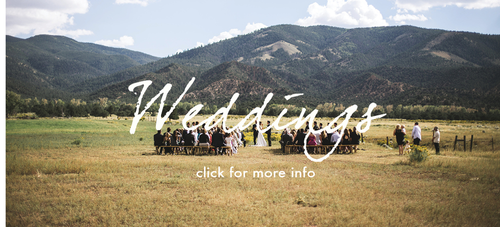 Plan your destination wedding at a working cattle ranch in Colorado.