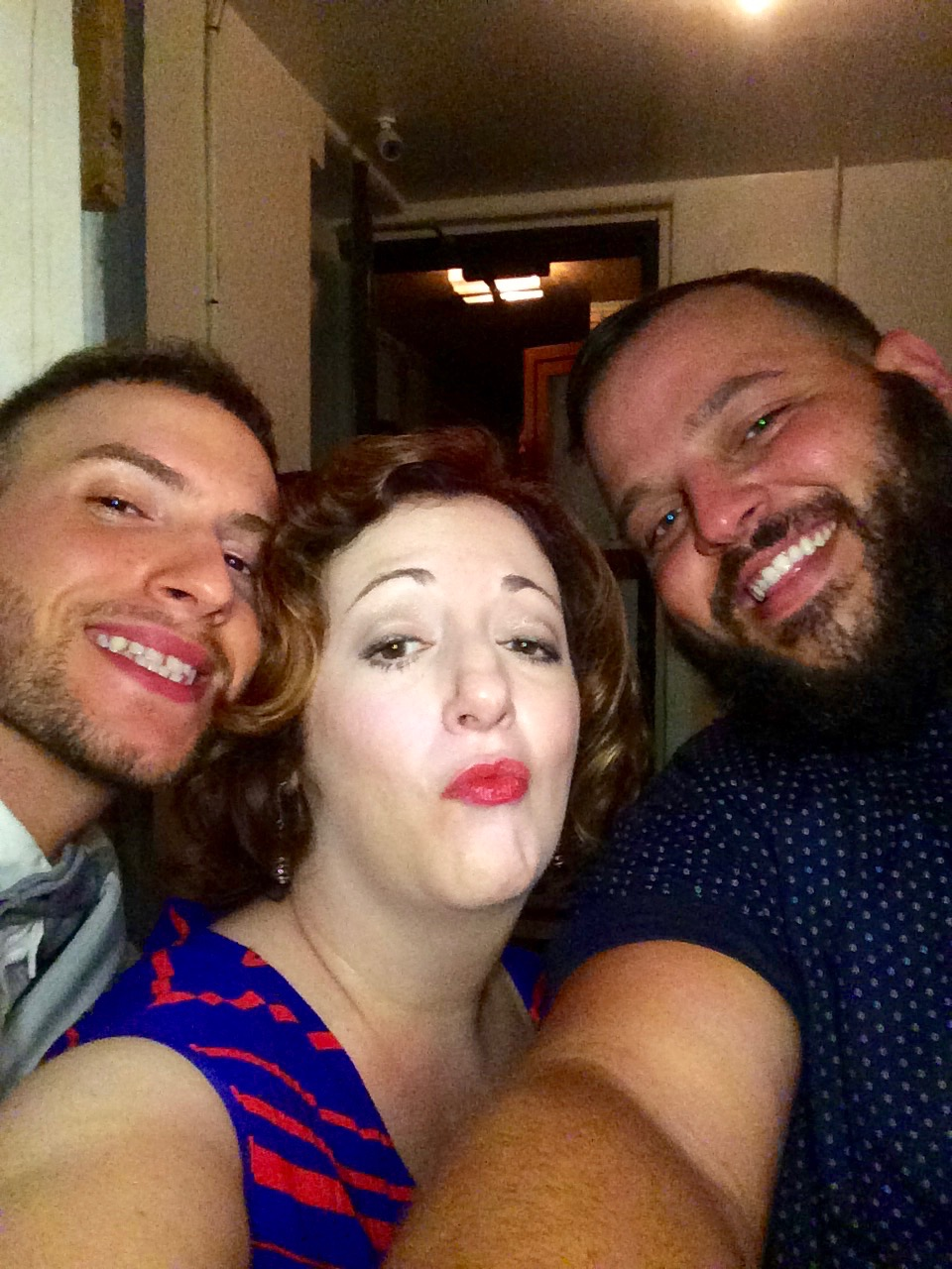 With Daniel Franzese & friend, Recovery Road Season 1 Wrap Party